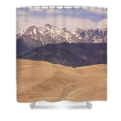 Sangre De Cristo Mountains And The Great Sand Dunes Shower Curtain by James BO  Insogna