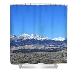 Sangre De Cristo Range Shower Curtain