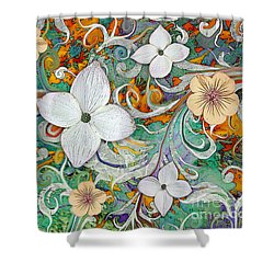 Sangria Flora Shower Curtain
