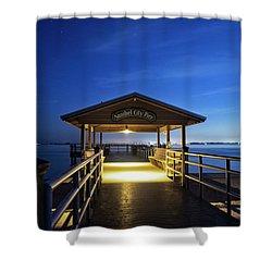Sanibel City Pier Shower Curtain