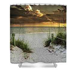 Sanibel Island Beach Access Shower Curtain by Greg Mimbs