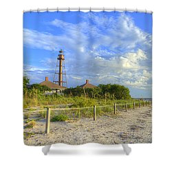 Sanibel Light House Shower Curtain by Sean Allen