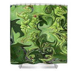 Sanibel Seagrapes Shower Curtain by Melinda Saminski
