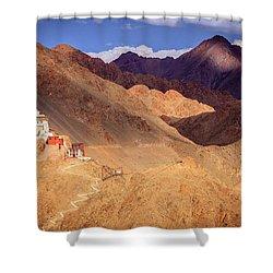 Shower Curtain featuring the photograph Sankar Monastery by Alexey Stiop