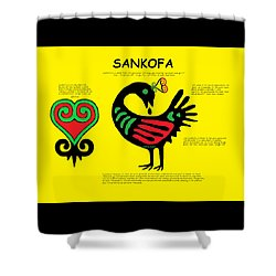 Sankofa Knowledge Shower Curtain