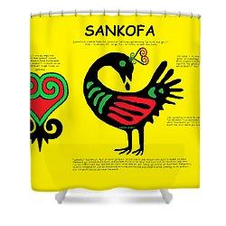 Sankofa Knowledge Shower Curtain