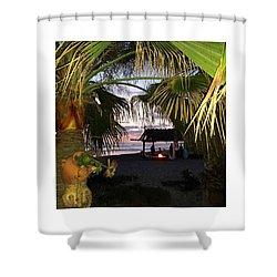 Sano Shack Sunset Shower Curtain