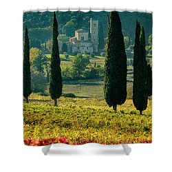 Sant Antimo Shower Curtain by Brian Jannsen