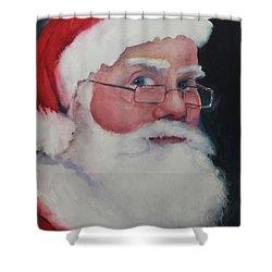 Santa 2016 Shower Curtain