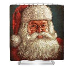 Santa 2017 Shower Curtain