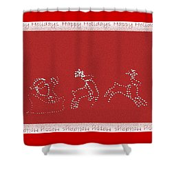 Shower Curtain featuring the photograph Santa And His Team by Ellen O'Reilly