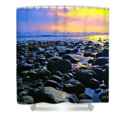 Santa Barbara Beach Sunset California Shower Curtain