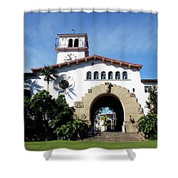 Santa Barbara Courthouse -by Linda Woods Shower Curtain by Linda Woods