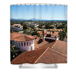 Santa Barbara From Above Shower Curtain by Suzanne Luft