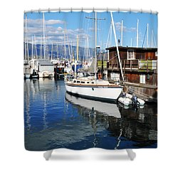 Shower Curtain featuring the photograph Santa Barbara Harbor by Kyle Hanson