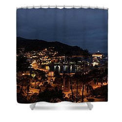 Santa Catalina Island Nightscape Shower Curtain by Angela A Stanton