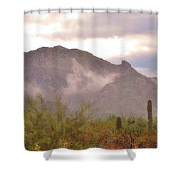 Santa Catalina Mountains II Shower Curtain