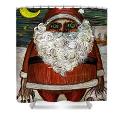 Santa Claus By Akiko Shower Curtain