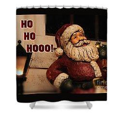 Santa Claus Christmas Card Shower Curtain by Lois Bryan
