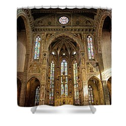 Shower Curtain featuring the photograph Santa Croce Florence Italy by Joan Carroll
