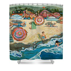 Santa Cruz Beach Boardwalk Shower Curtain