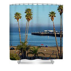 Santa Cruz Beach Shower Curtain