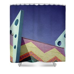 Santa Cruz Boardwalk - Photography  By Linda Woods Shower Curtain