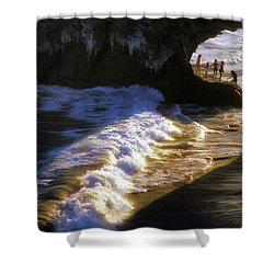 Santa Cruz 'bridge' California Coastline Shower Curtain by John A Rodriguez