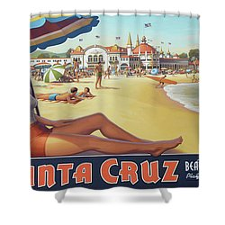 Santa Cruz For Youz Shower Curtain by Bob Christopher