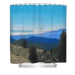 Santa Cruz Mountains Looking To Monterey Bay Shower Curtain