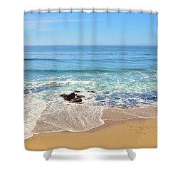Santa Cruz Private Beach Shower Curtain