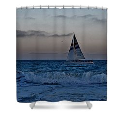 Santa Cruz Sail Shower Curtain