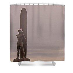 Santa Cruz Santa Surfer  Shower Curtain