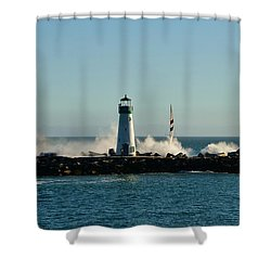 Santa Cruz Walton Lighthouse Shower Curtain