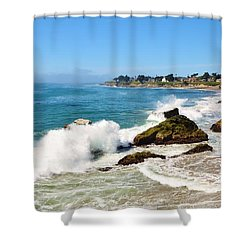 Santa Cruz Wave Spray Shower Curtain