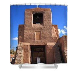 Santa Fe - San Miguel Chapel Shower Curtain by Frank Romeo