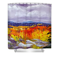 Santa Fe Aspens Series 1 Of 8 Shower Curtain