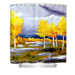 Santa Fe Aspens Series 2 Of 8 Shower Curtain