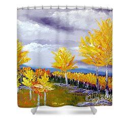Santa Fe Aspens Series 3 Of 8 Shower Curtain