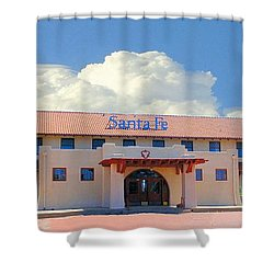 Santa Fe Depot In Amarillo Texas Shower Curtain