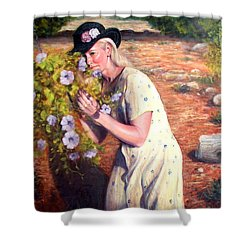 Santa Fe Garden 2   Shower Curtain by Donelli  DiMaria
