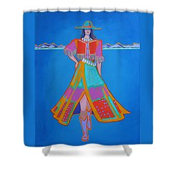 Santa Fe Girl  Shower Curtain
