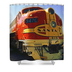 Santa Fe Railroad Shower Curtain by Art America Gallery Peter Potter