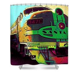 Santa Fe Railroad New Mexico Shower Curtain