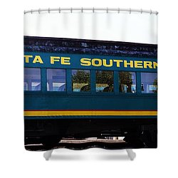 Santa Fe Train Shower Curtain by Joseph Frank Baraba