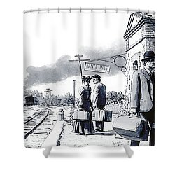 Santa Ines Station Shower Curtain