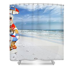 Santa Lifeguard Shower Curtain