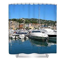 Santa Margherita Ligure Panoramic Shower Curtain by Adam Romanowicz