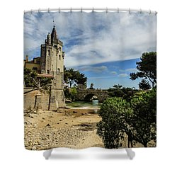 Santa Marta Beach In Cascais, Portugal Shower Curtain