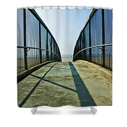 Santa Monica Beach California Shower Curtain by Micah May